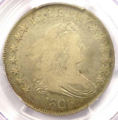1806 Draped Bust Half Dollar 50C Coin - Certified PCGS VG10 - Rare Coin!