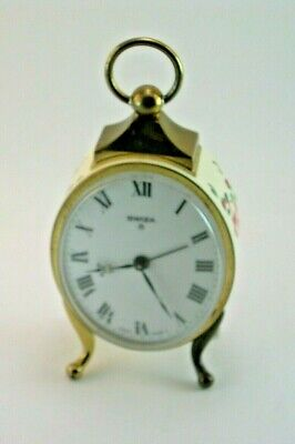 Vintage SWIZA 8 Day Alarm clock Swiss Made
