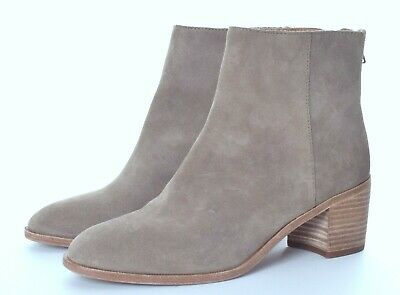 57f997d9624 MADEWELL PAULINE GRAY Suede Back Zip Ankle Boots Size 7.5 NWOB