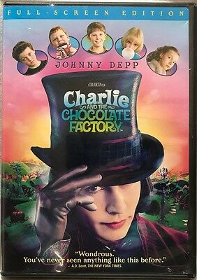 Charlie and the Chocolate Factory (DVD, 2005, Full Frame) - Tested, plays great!