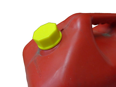 Ez-Pour® Yellow Base Cap Water Jugs Gas Cans Storage Coarse Thread Solid Ye