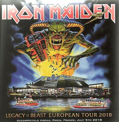 IRON MAIDEN - LEGACY OF THE BEAST TOUR - PARIS 05th JULY 2018 - 2CD DIGISLEEVE