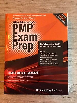 PMP Exam Prep by LRita Mulcahy (2013, Paperback, 8th) & flashcards & ref guide