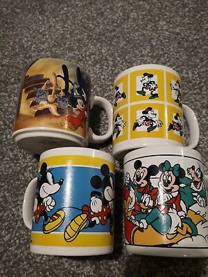 Job Lot Vintage Mickey Mouse Cups