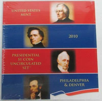2010 Presidential $1 Dollar 8 Coin Uncirculated Set P & D Sealed Us Mint