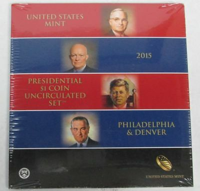 2015 Presidential $1 Dollar 8 Coin Uncirculated Set P & D Sealed Us Mint
