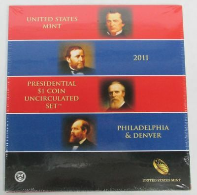 2011 Presidential $1 Dollar 8 Coin Uncirculated Set P & D Sealed Us Mint