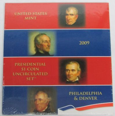 2009 Presidential $1 Dollar 8 Coin Uncirculated Set P & D Sealed Us Mint
