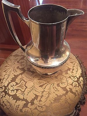 Vintage NATIONAL Silver On Copper WATER PITCHER Silver Plate