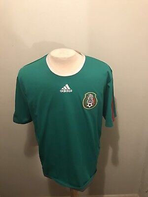 13a78408dad Adidas Mexico Futbol World Cup Men's Home Green Red Soccer Jersey Size Large