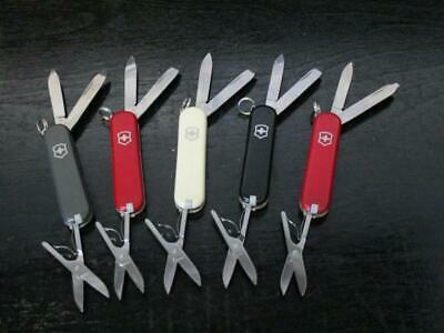 Lot of 5 Classic SD Swiss Army Knives with Logo's