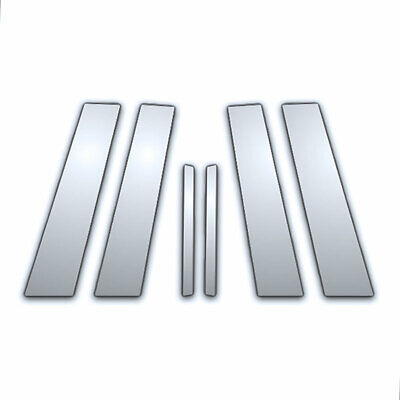 6Pc Chrome Pillar Side Covers for 91-96 Buick Roadmaster