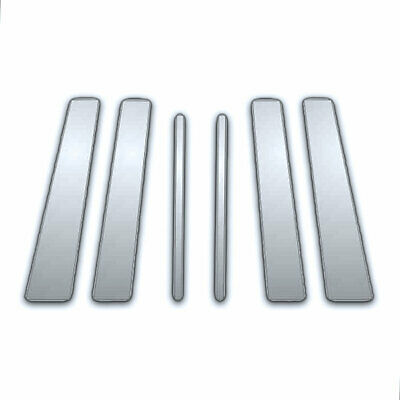 6Pc Chrome Pillar Side Covers for 95-04 Lincoln Continental