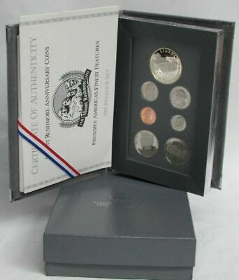 1991 United States Mint Silver Prestige Set Mount Rushmore Commemorative