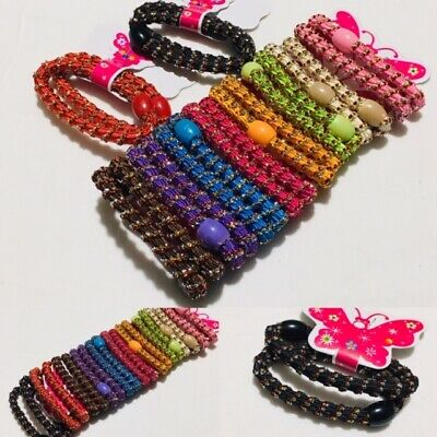 20 * Stylish Hair Elastic Band Ponies Bobbles Ponytails Bands for Women Girls