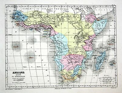 AFRICA AFRIKA MADAGASCAR Weltkarte Karte world map ...