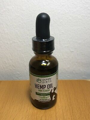 Purely Pets Supply 450 MG Hemp Oil 1oz for Dogs and Cats - NEW - SEALED - FAST!