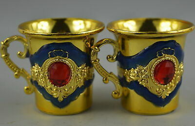 AAA Collect Decorate Cloisonne Carve Flower Rare Noble Wine Cup Chinese Gift