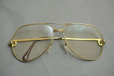 Authentic Cartier Paris Glasses Eyeglasses Frame  Prescription Gold-toner 62 14