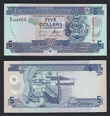 Isole Solomone / Solomon Islands - 5 dollars 1997 FDS/UNC  B-10