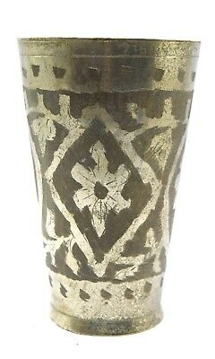 Indian Vintage Brass Kitchenware Water Tumbler / Milk Glass / Cup. i40-127 US