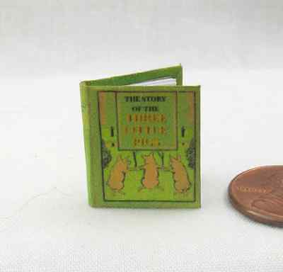 THE THREE (3) LITTLE PIGS Miniature Book Dollhouse 1:12 Scale Illustrated Book