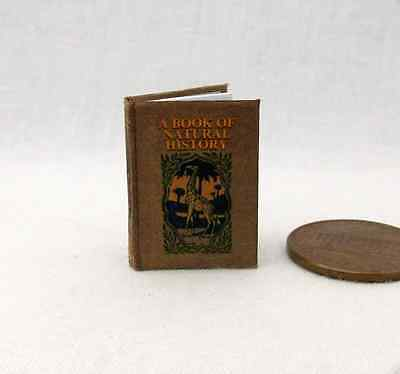 BOOK OF NATURAL HISTORY Dollhouse Miniature Illustrated Readable Book 1:12 Scale