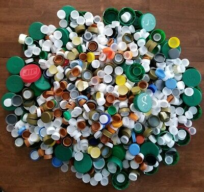 1500 + Plastic Bottle Caps Clean Milk Soda Juice Water Liquor For Crafts Washed