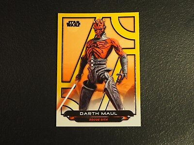 2017 Topps Star Wars Galactic Files Reborn Darth Maul Gold Parallel #08/10 NMMT