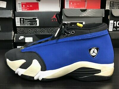 209d906b35e NIKE AIR JORDAN 14 Retro Low Laney Size 8.5 Blue Yellow Black ...