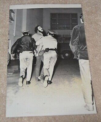 1970 Free Huey Newton Photo Black Panther Parrty Vintage Awesome