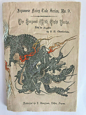 Japanese Fairy Tales Series No. 9 THE SERPENT WITH EIGHT HEADS 1898? chirimen