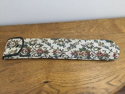 Vintage Tapestry Knitting Needle Bag With Knitting Needles