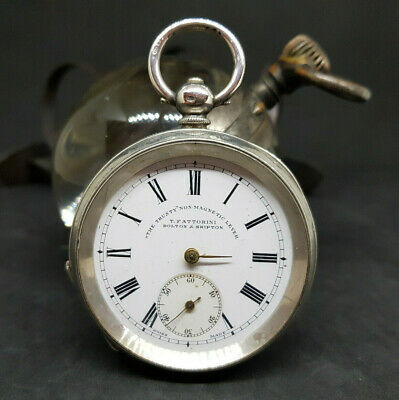 Antique T.fattorini Bolton&Shipton Solid Silver Pocket Watch Spare Only