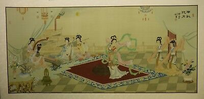 """CY80 Mid-Autumn Festival - Chinese painting on silk 48""""x24""""/44""""x20"""""""