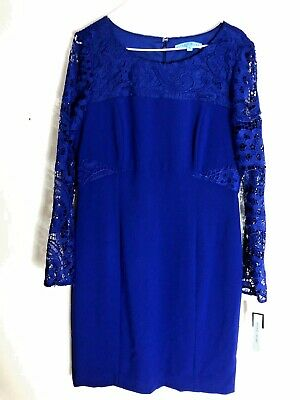 7d52a3e745a NEW WITH TAGS ANTONIO MELANI Blue Lace Dress size 12 -  54.99