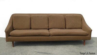 Excellent Vintage Mid Century Modern Brown Sofa Couch Folke Ohlsson Gamerscity Chair Design For Home Gamerscityorg