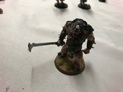 Lord of the Rings Warhammer Hill Troll Chieftain Buhrdur, metal, games workshop