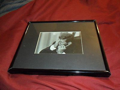 President John F Kennedy Vintage Black/White Framed Photo Print