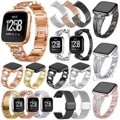 Milanese Magnetic Stainless Steel Wrist Watch Strap Band For Fitbit Versa Lite