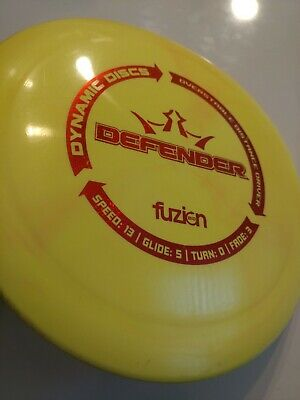 Dynamic Disc Defender Driver Bio Fusion Yellow 169g used