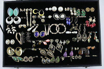 75 x Vintage EARRINGS inc. Studs, Drops, 80s Style, Faux Pearl, Statement