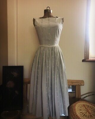 Vintage Farm Country Dress With Butterflies