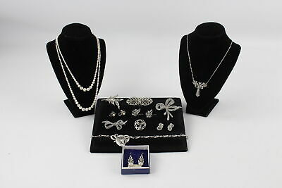 12 x True Vintage MARCASITE JEWELLERY inc. Necklaces, Brooches, Pearl