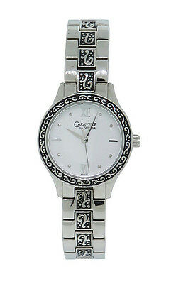 Caravelle by Bulova 43L131 Women's Round White Roman Numeral Analog Watch