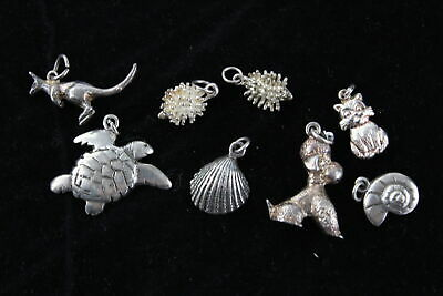U VINTAGE STERLING SILVER CHARM BELLS SLIPPERS INGOT CAR SHIP TRAIN SLED BUS DOG
