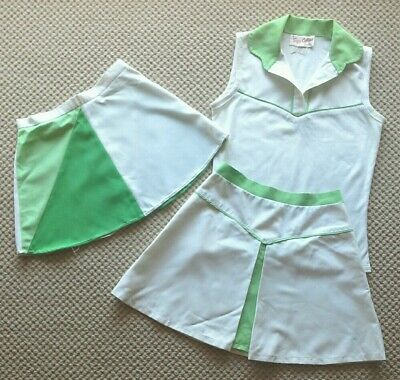 Girls retro tennis outfit