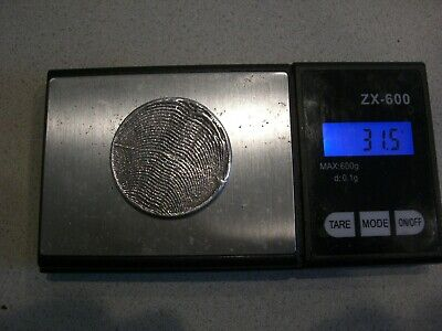 HAND POURED 925 SILVER ROUND 31.5 gram Sterling Silver 2