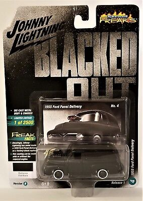 Johnny Lightning 1955 Ford Panel Delivery Blacked Out Street Freaks 2018 R1 Vb