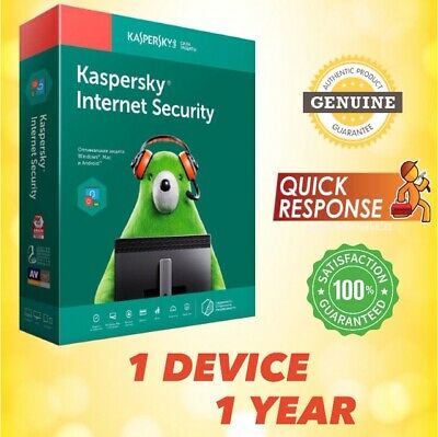 KASPERSKY INTERNET SECURITY 2019 1 PC / User / 1 Device / 1 Year for Windows